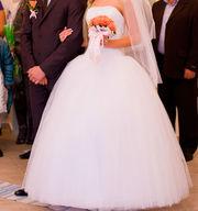 Срочно продам очень пышное и красивое свадебное платье
