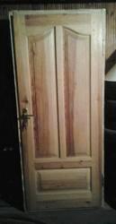 дверь входная двойная деревянная б/у