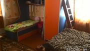 Детскую двухъярусную кровать сине-оранжевая